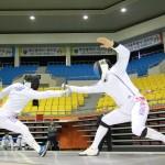 펜싱 남일 에뻬 단체 경기 대 전북 45대 41 승(3)